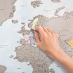 Mapa krajów – wydrapują swoją przygodę zwiedzania świata
