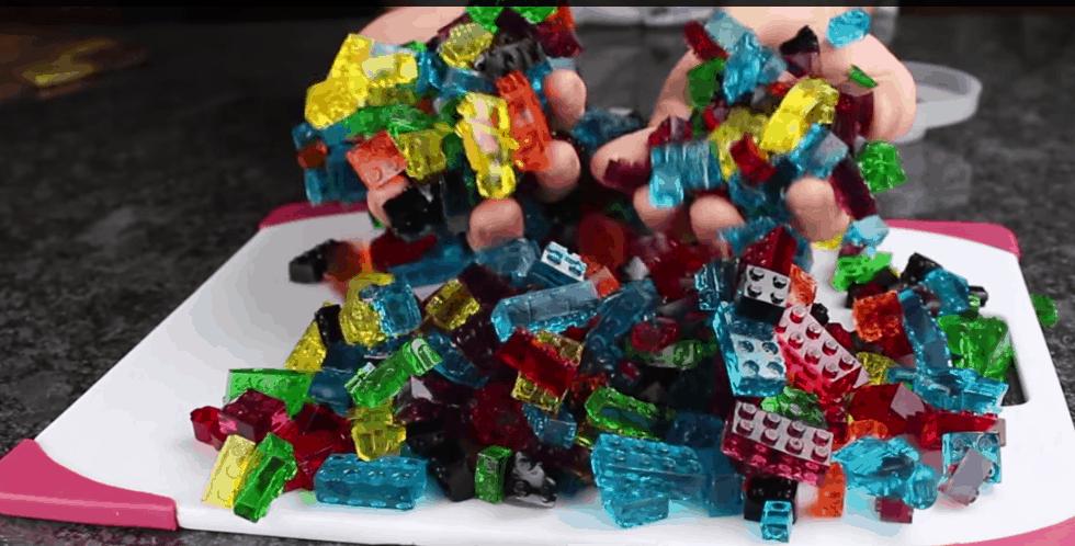 Smakowite żelki wkształcie klocków LEGO!